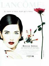 Publicité Advertising 087  1998   rouges  lèvres maquillage Lancome (2p) C.Reali