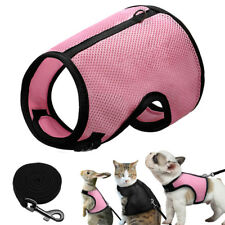 Pet Mesh Small Animal Harness Leash for Puppy Cat Hamster Rabbit Squirrel Vest