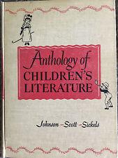 Anthology of Children's Literature 1948 Book Johnson-Scott-Sickels