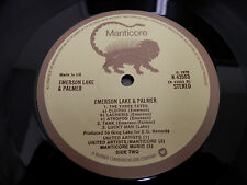 ELP-1st LP UK Import on Manticore Label..Nice Copy