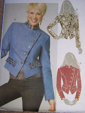 modern waist JACKET misses 6-12 Pattern unusual crossover front fitted lined