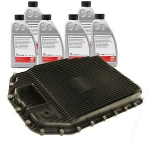 6 Liters Automatic Transmission Fluids & Oil Pan and Filter Kit For BMW E90 E60