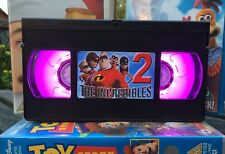 The Incredibles 2 Retro VHS Night Light, Desk Lamp, Led, Bedroom Lamp, TV, Kids
