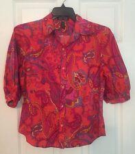 Ralph Lauren Button Front Blouse Size Medium