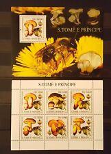70.Briefmarken Pilze S.Tome & Principe Bl.+Kb.,postfrisch