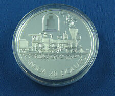 Canada 20$ 2000 STERLING SILVER Canadian Locomotive