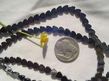 "6mm Hematite Flat Gemstone Heart Beads 16""strand/75pcs"