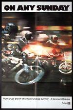 ON ANY SUNDAY STEVE MCQUEEN MOTORCYLE MOTOCROSS 1971 1-SHEET