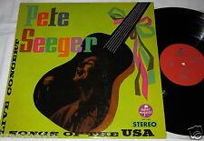 Pete Seeger canzoni of the USA LP SUPER MAJESTIC Rec. France 1965 RARE FOLK!!!