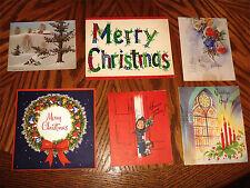 Vintage Christmas Cards 6 Whitman Wycoff Doehla Francois