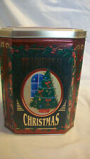 DECORATIVE METAL TIN, TRADITIONAL CHRISTMAS TREE