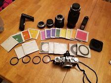 Olympus OM-1 35mm SLR Film Camera, lenses and accessories