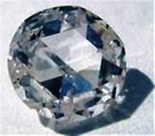 Natural Bergkristall Brillant Schliff Crystal Quarz 5 mm 1 Paar