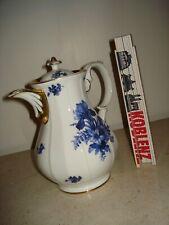 Kaffeekanne 19. Jhd / um 1880 - Tielsch Altwasser Schlesien - blaue Blumen -c121