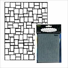 Darice Embossing Folders BRICK WALL 1217-59 embossing  folder Cobblestone,pavers