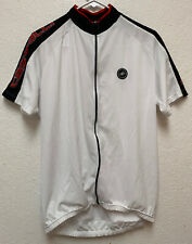 Castelli Men's Full Zip Cycle Jersey Size 2XL White/Red/Black