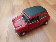 CORGI CARARAMA 1/43 CLASSIC RED MINI COOPER + BLACK ROOF DIECAST MODEL CAR