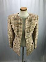 Joan & David Women's Beige Wool Blend Blazer 6