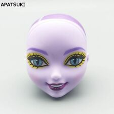Purple Color Bald Soft Doll Head For Monster High Doll Head Doll's Monster Head