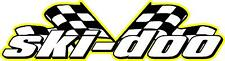 Ski-doo racing flags snowmobile vinyl sticker decal 22""