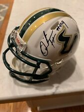 QUINTON FLOWERS SIGNED HELMET USF BULLS SOUTH FLORIDA QB XFL TAMPA VIPERS NCAA