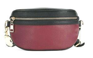 Time and Tru Josephine Belt Bag, Red & Black