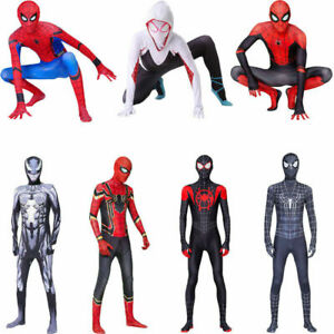 Spider-Man Teens Cosplay Costume Jumpsuits Adults Spandex Bodysuit Gift All Sets