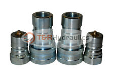 2 Sets Of 34 Iso 7241 B Hydraulic Quick Disconnect Couplers