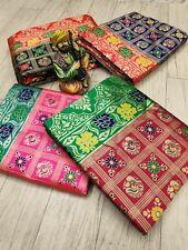 Banarasi Silk Saree Wedding Wear Indian Traditional Ethnic Party Wear SariBlouse