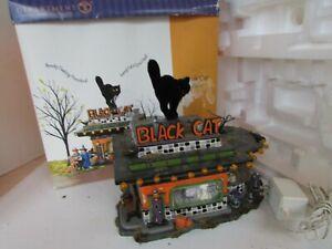 DEPT 56 55319 BLACK CAT DINER SNOW VILLAGE LIGHTED BUILDING  LotD