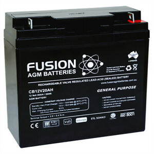 Fusion 12V 20Ah General Purpose AGM Battery