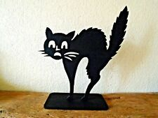 Halloween black Cat with stand- decoration free standing party witches cat
