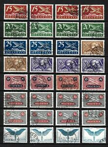 Switzerland Classic AirMail Stamps / USED