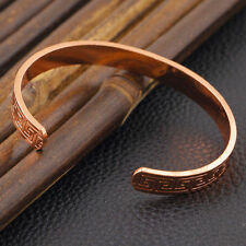 Magnetic Healing Therapy Copper Bangle Cuff Arthritis Pain Relief Bracelet Hot