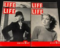 Life Magazine Lot of 4 From 1939 All in Excellent Condition in Protective Sleeve