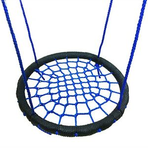 Outdoor Mesh Hammocks Sports Steel Wrapped Rope Round Swing 60cm Nest Swing New