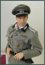 """WWII GERMAN ARMY INFANTRY OFFICERS """"CRUSHER"""" STYLE HAT 1:6th scale"""