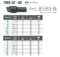 C51-8-36E VESSEL 8mm HEX SHANK IMPACT DRIVER BIT 10PCS SET SLOTTED 8x36mm