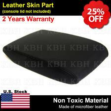 Leather Armrest Center Console Lid Cover Fits Toyota Highlander 2008-2013 Black