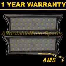 2x Para Bmw 7 Series E65 E66 2001-2008 27 Blanco LED Interior Techo cortesía Lámparas
