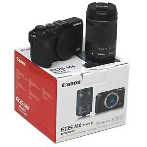 Canon M6 Mark II Mirrorless Digital Camera + 18-150mm lens Black UK NEXT DAY DEL