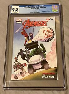 Avengers Junior Golf Guide: One-Shot #1 CGC 9.8 Marvel + Copy of Teachers Guide!