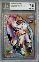 Donovan McNabb Eagles 1999 Pacific Paramount Personal Bests Rookie #27 BGS 7.5