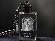 Australian Shepherd, Dog Crystal Keyring, Keychain, Quality, Crystal Animals Usa