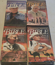 LOT 4 VHS NEW CHARLTON HESTON THE BIBLE GENESIS STORY OF MOSES PASSION JESUS