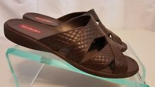 Okabashi Women's Cross Strap Sandal Brown Size M USA