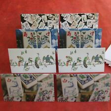 Set 8 Mahjong Stationery Gift Enclosure Cards Envelopes,  Vtg. Designs Mah Jongg