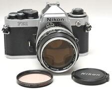 Nikon FE2 w/ 2.5 105mm Lens with Titanium shutter - JAPAN  Ex ++