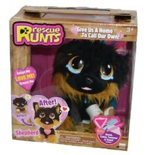 NEW Rescue Runts Shepherd Puppy Dog Plush Toy Christmas Black Brown