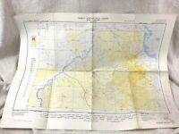1952 Vintage Luftfahrt Karte Icao Tabelle Nubische Wüste Sudan Eritrea Ägypten